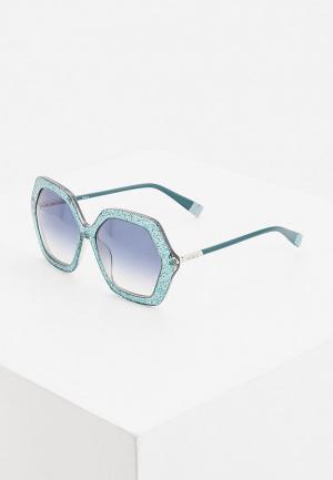 Очки солнцезащитные Furla. Цвет: бирюзовый