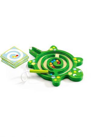 Настольная игра Лабиринт Djeco. Цвет: зеленый