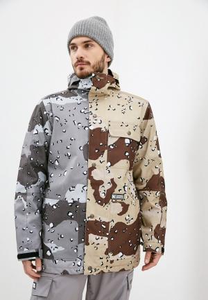 Куртка горнолыжная DC Shoes. Цвет: разноцветный