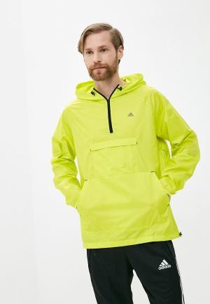 Ветровка adidas. Цвет: желтый