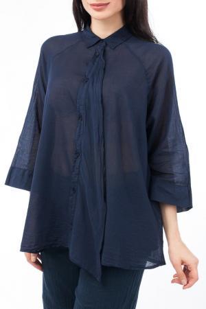 Рубашка EUROPEAN CULTURE. Цвет: темно-синий