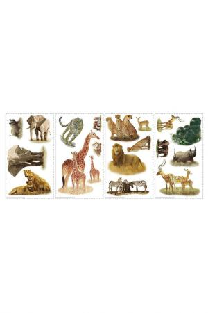 Наклейки для декора Сафари ROOMMATES. Цвет: белый