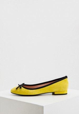 Балетки Pollini. Цвет: желтый