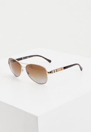 Очки солнцезащитные Burberry. Цвет: золотой