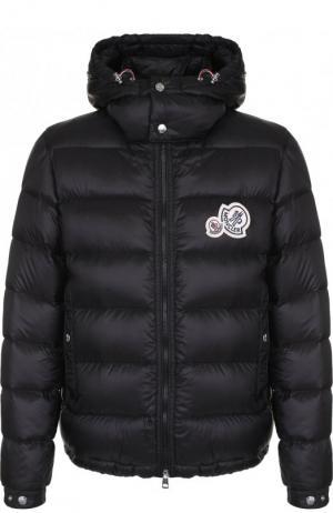 Утепленная куртка Bramant на молнии с капюшоном Moncler. Цвет: черный