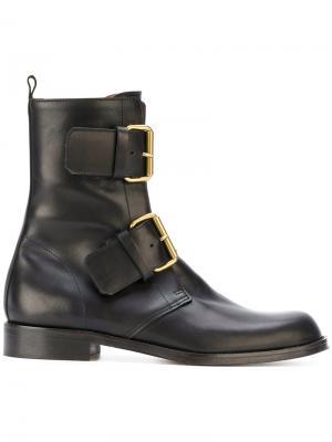 Ботинки с пряжками Michel Vivien. Цвет: чёрный