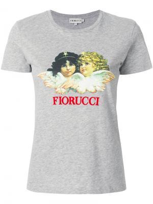 Футболка с принтом-логотипом Fiorucci. Цвет: серый