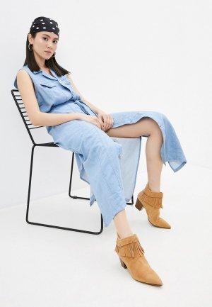 Платье джинсовое 7 For All Mankind. Цвет: голубой
