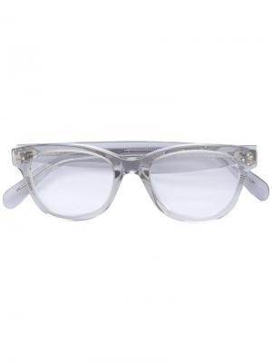 Прозрачные очки Céline Eyewear. Цвет: белый