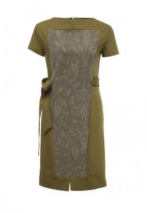 Платье D.VA. Цвет: хаки