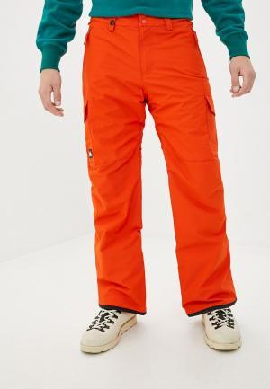 Брюки сноубордические Quiksilver. Цвет: оранжевый