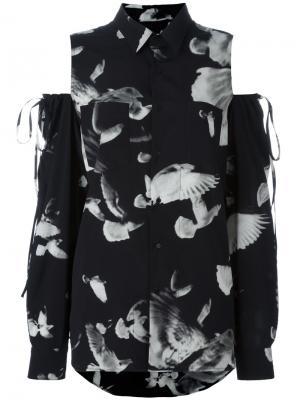 Блузка с вырезными деталями на плечах A.F.Vandevorst. Цвет: чёрный