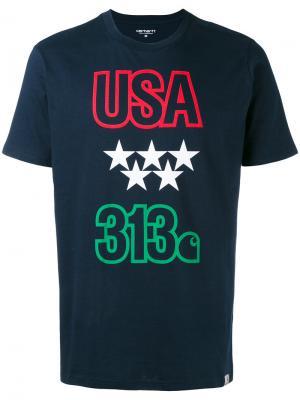 Футболка USA 313 Carhartt. Цвет: синий