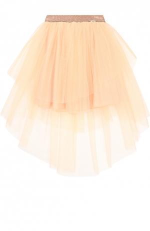 Многоярусная пышная юбка Jean Paul Gaultier. Цвет: розовый