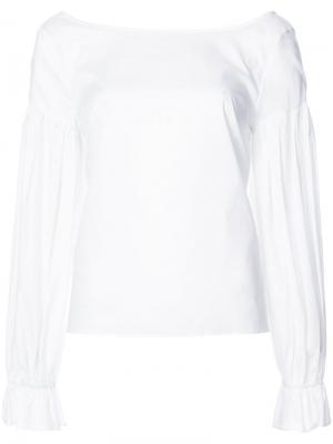 Блузка с объемными рукавами Milly. Цвет: белый