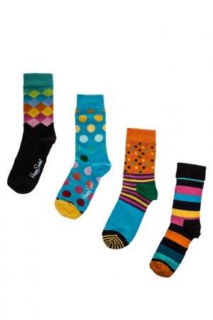 Комплект носков HAPPY SOCKS. Цвет: голубой