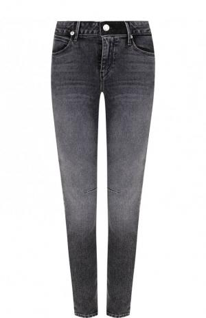 Укороченные джинсы-скинни с потертостями RTA. Цвет: темно-серый