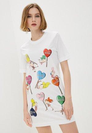 Платье Love Moschino. Цвет: белый