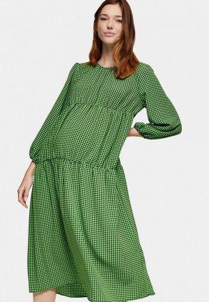 Платье Topshop Maternity. Цвет: зеленый