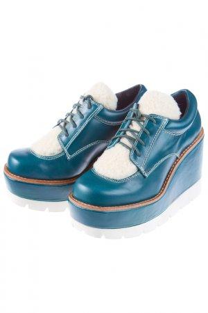 Ботинки на платформе JEFFREY CAMPBELL. Цвет: изумрудный