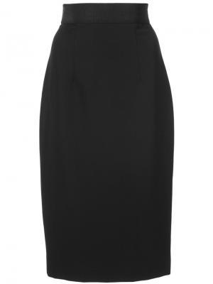 Классическая юбка-карандаш Milly. Цвет: чёрный