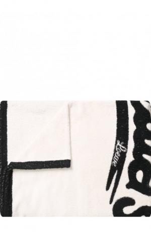 Хлопковое пляжное полотенце Loewe. Цвет: черно-белый