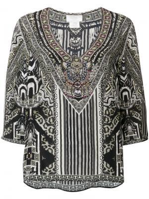 Блузка с принтом Camilla. Цвет: зелёный