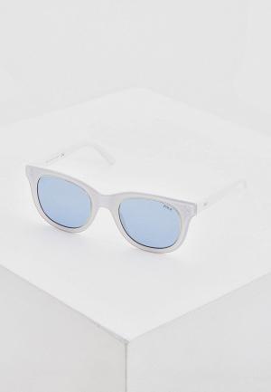 Очки солнцезащитные Polo Ralph Lauren. Цвет: белый