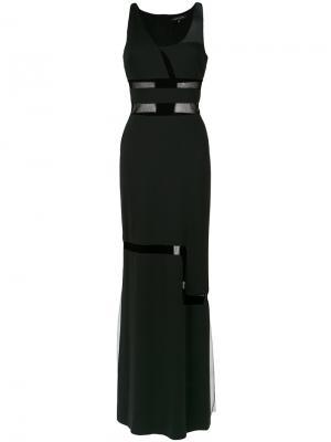 Panelled gown Gloria Coelho. Цвет: чёрный