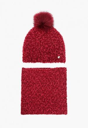 Шапка и шарф Liu Jo. Цвет: бордовый