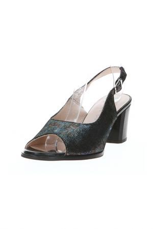 Туфли открытые ALPINA. Цвет: черный