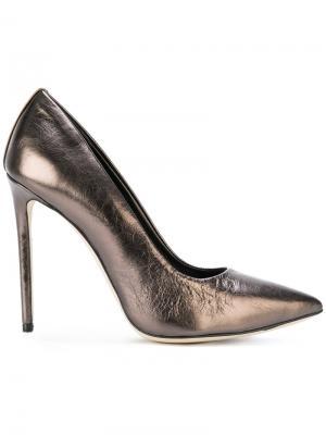 Туфли-лодочки с заостренным носком Marc Ellis. Цвет: металлический