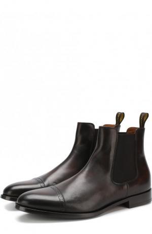 Однотонные кожаные челси Doucals Doucal's. Цвет: коричневый