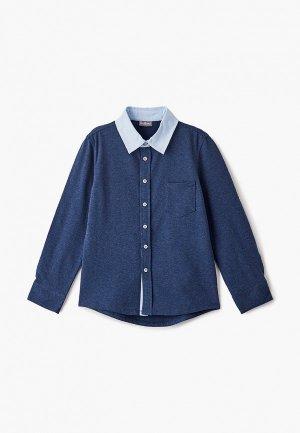 Рубашка Gulliver. Цвет: синий