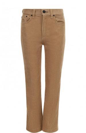 Укороченные вельветовые джинсы с карманами Rag&Bone. Цвет: бежевый