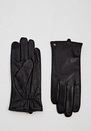 Перчатки Lauren Ralph. Цвет: черный