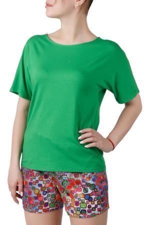 Пижамный комплект Sonett. Цвет: зелено-голубой