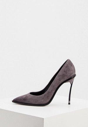 Туфли Casadei. Цвет: серый