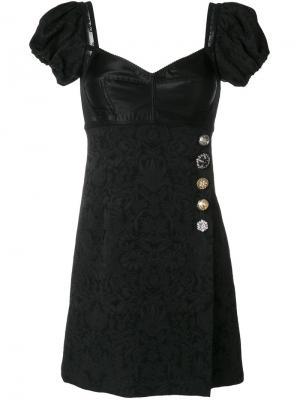 Платье с корсетом Dolce & Gabbana. Цвет: чёрный