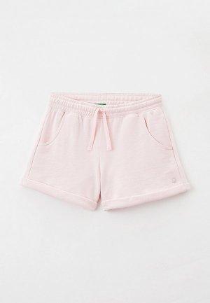 Шорты United Colors of Benetton. Цвет: розовый