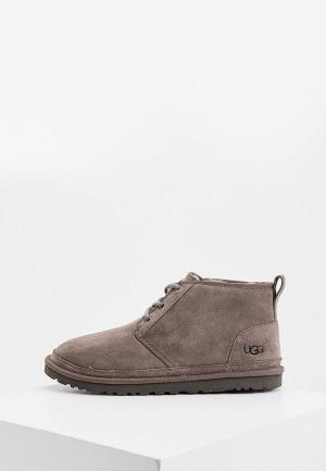 Ботинки UGG. Цвет: серый