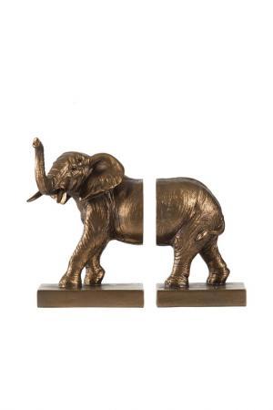 Держатели для книг Слон, 2 шт. ГЛАСАР. Цвет: бежевый