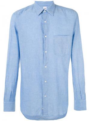 Классическая рубашка Aspesi. Цвет: синий