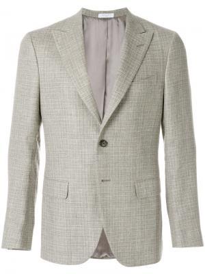 Тканый пиджак Boglioli. Цвет: телесный