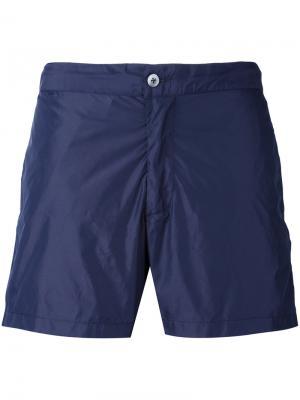 Классические пляжные шорты Officine Generale. Цвет: синий