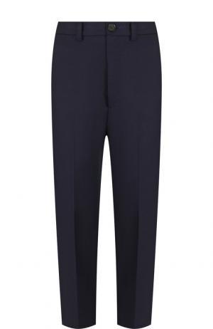 Укороченные брюки со стрелками Erika Cavallini. Цвет: синий