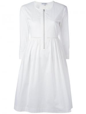 Расклешенное платье Elizabeth And James. Цвет: белый