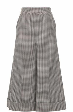 Укороченные расклешенные брюки со стрелками Erika Cavallini. Цвет: разноцветный