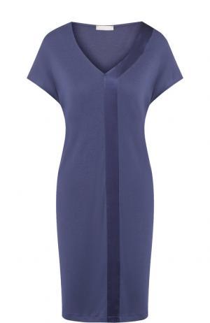 Ночная сорочка с V-образным вырезом Hanro. Цвет: синий