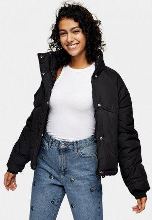 Куртка утепленная Topshop. Цвет: черный